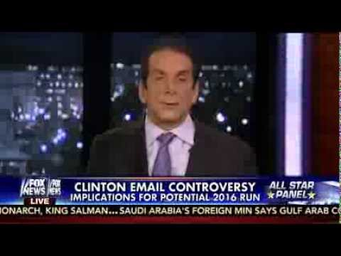 Krauthammer: Hillary Can't Hold Presser Because She Is A Clinton And Clintons Never Clear The Air