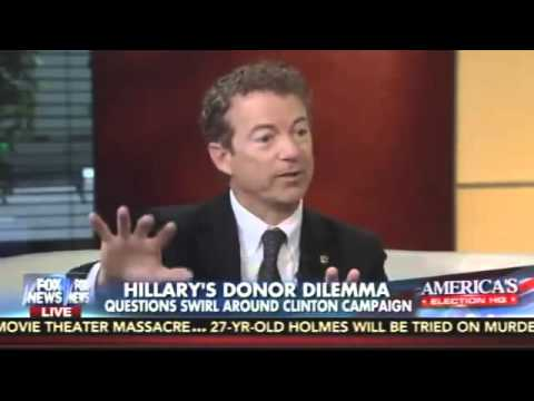 Rand  Foreign Contributions to the Clintons Has the 'Appearance of Impropriety'